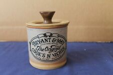 More details for vintage rare bryant & may claycraft pottery cook's matches storage jar with lid