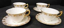 Four Vintage Royal Crown Derby Cups & Saucers