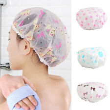 Womens Girls Elastic Waterproof Shower Cap Bathing Spa Beauty Salon Cartoon Hats