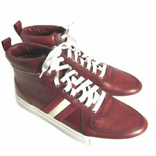 C-1596100 New Bally Hervey Red14 Calf Washed Sneakers Shoes Size US 9 D