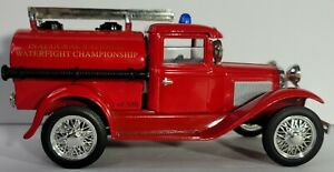 Liberty Classics Ford Model A Fire Truck Bank Traer Iowa Waterfight 1 of 300