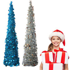 Pastel Christmas Tree Tabletop Pre-lit Clear Lights Decorations Cord NEW FA