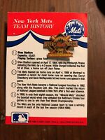 Vintage New York Mets 25th Anniversary Pin 1962-1986 Fleer 1986  On Card