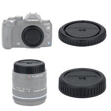 JJC Body Cap and Rear lens cap for Olympus Panasonic Leica 4/3 Mount Camera Lens