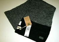 "Timberland mens 72""x12"" designer macys gray & black cable knit acrylic scarf"