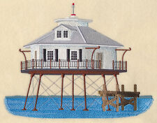 Middle Bay Lighthouse (Alabama) SET OF 2 BATH HAND TOWELS EMBROIDERED BY LAURA