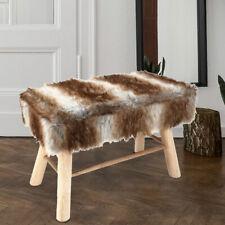 Banquette design fausse fourrure shorthair meubles repose-pieds parquet meubles