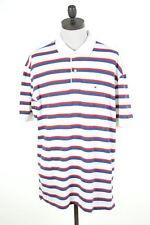 Tommy Hilfiger Camisa Polo para hombre 2XL Multi Rayas de Algodón