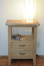 pair of new bedside tables / lamp tables - light grey wash finish
