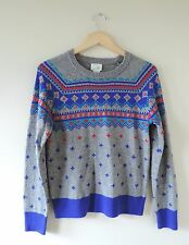Kids Girls Crewcuts J Crew Retro Ski Sweater Size Large 14