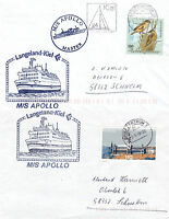 FINNISH CRUISE SHIP MS APOLLO 2 SHIPS CACHED COVERS
