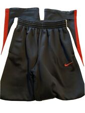 Nike Black Warm Up Pants, Red Accents, Youth Size 12-14/ Large. White Logo.