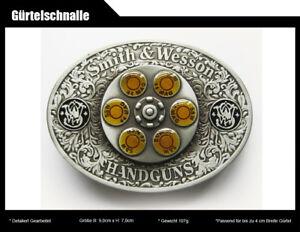 Gürtelschnalle Smith & Wesson 44 MAG Gun Spinner Bullet S&W Buckle
