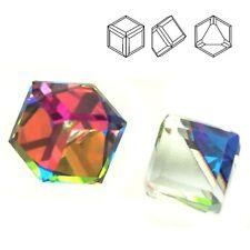 Swarovski 4841 Cube 6 mm Crystal VM Z (price for 1 piece)