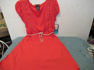 Girls Paper Doll Size 16 Coral Dress with Lace Accent