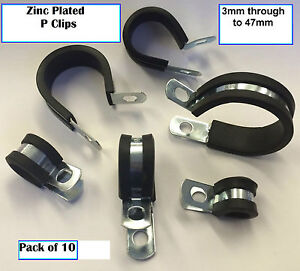 P CLIPS RUBBER LINED ZINC PLATED PK OF 10 **CHOOSE YOUR SIZE** GREAT PRICES