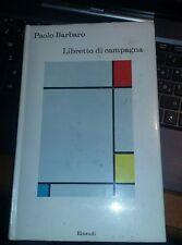 Paolo barbaro-libretto di campagna-einaudi 1972 prima edizione