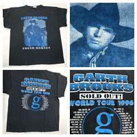 "Garth Brooks 1996 K Swiss Tee Vintage ""Fresh Horses"" Country Concert T Shirt XL"