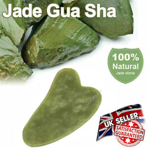 Jade Gua Sha Board Scraper Natural Rose Quartz Face Body Massager Beauty Tool UK
