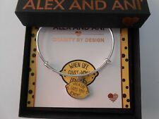 Alex and Ani When Life Gives You Lemons Bangle Bracelet Shiny Silver NWTBC