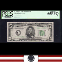 1934 $5 PHILADELPHIA FRN DGS mule  PCGS 65 PPQ Fr 1956-C   C42014948A