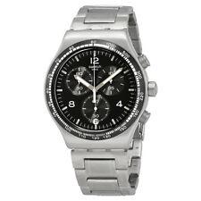 Swatch Night Flight Chronograph Black Dial Mens Watch YVS444G