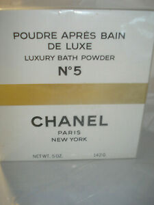 VINTAGE CHANEL No 5 LUXURY BATH BODY POWDER LARGE 5 oz SEALED BOX