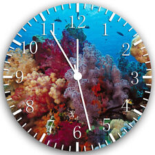 Tropical Fish Ocean Frameless Borderless Wall Clock Nice For Gifts or Decor W150