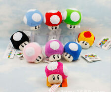 "Lot 9Pcs Super Mario Bros Mushroom Key Chain Soft Plush Toy 2.5"" Mini Charm E34"