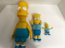 "Lot 3 Matt Groening 1990 Bart Simpson Doll 16"" Hard Plastic 10"" Soft 4"" Rubber"