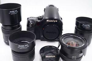 Mamiya 645 AFD Digital Camera - Black , 4 lenses, P45 Phase One back