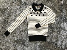 Review embellish knit top/jumper with detachable collar size 8