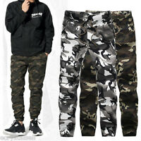 Men's Cotton ARMY Pants Military Camouflage Camo Trousers Casual Sports Gym Pant