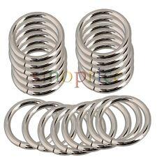 20pcs Silver Metal O Ring Webbing Belts Buckle For 25mm Width Strap Adjuster