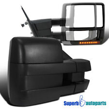 For 2007-2014 Ford F150 Power Towing Mirrors w/LED Turn Signal+Puddle Lights Kit