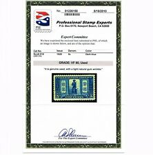 EXCEPTIONAL GENUINE SCOTT #619 VF USED PSE GRADED CERT 1925 LEXINGTON CONCORD