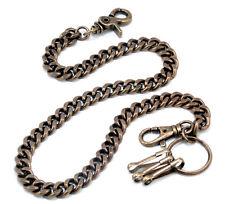 "Thick Basic Biker Trucker Keychain Key Jean Wallet Chain (23"") Brownish CS131"