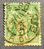 FRANCE TYPE SAGE (TB-1209-1) VERT TYPE II N°75 CAD Paris Rue Du Bac, 6e levée