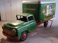 Vintage Marx Wyandotte Railway Express Train Delivery Truck Pressed Steel 1950's