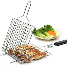 BBQ Net Square Grilled Fish Chicken Net Clip Hand Held Grill Mesh Wire Clamp