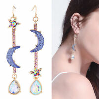 Fashion Earring Jewelry Space Universe Star Moon Planet Long Drop Dangle Earring