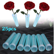 25pcs Fresh Floral Water Tube Plastic Artist Decor Flower Single Hole Party Gift