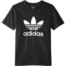 Magliette, maglie e camicie nere adidas con girocollo per bambini dai 2 ai 16 anni