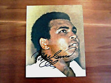 MUHAMMAD ALI CASSIUS CLAY BOXING HOF SIGNED AUTO VINTAGE COLOR PHOTO JSA LOA