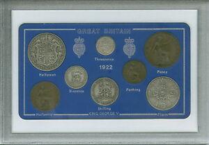 1922 GB Great Britain British Vintage Coin Set (99th Birthday Gift Birth Year)