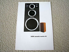SABA model 80 speaker brochure