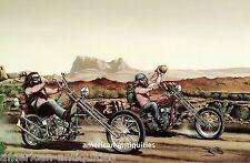 Dave David Mann Biker Art Motorcycle Poster Print Easyriders Desert Run Chopper