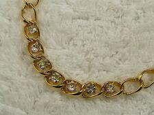 Necklace (B25) Goldtone Rhinestone Chain