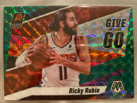 2019-20 MOSAIC GIVE AND GO GREEN PRIZM #12 RICKY RUBIO PHOENIX SUNS