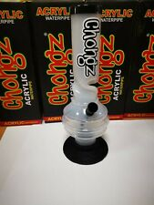 More details for chongz 30cm plastic water bong various colours available pipe